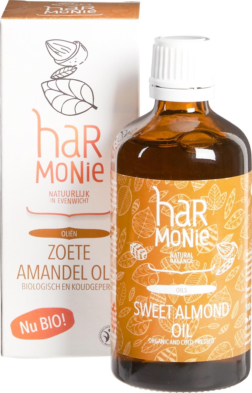 Biologische Harmonie Zoete amandel olie (bio en koudgeperst) 100 ml