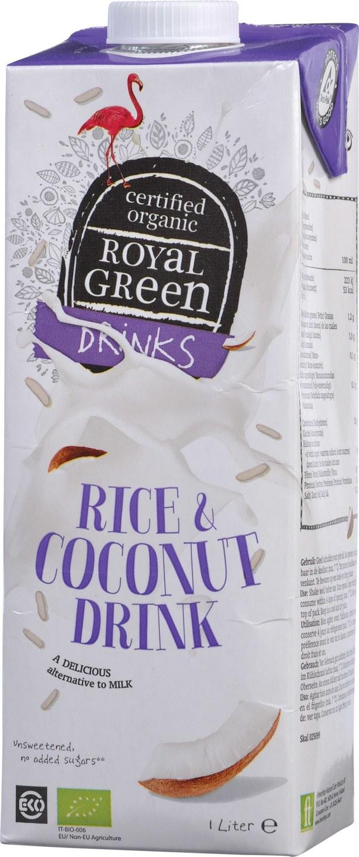 Biologische Royal Green Rijstdrink kokos 1 L