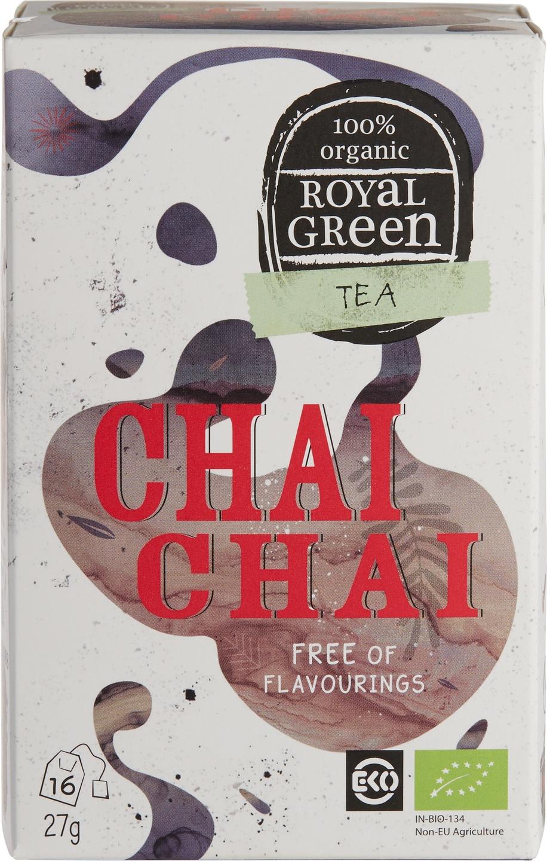 Biologische Royal Green Zwarte thee chai 16 st