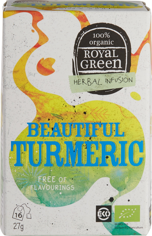 Biologische Royal Green Kruidenthee geelwortel 16 st