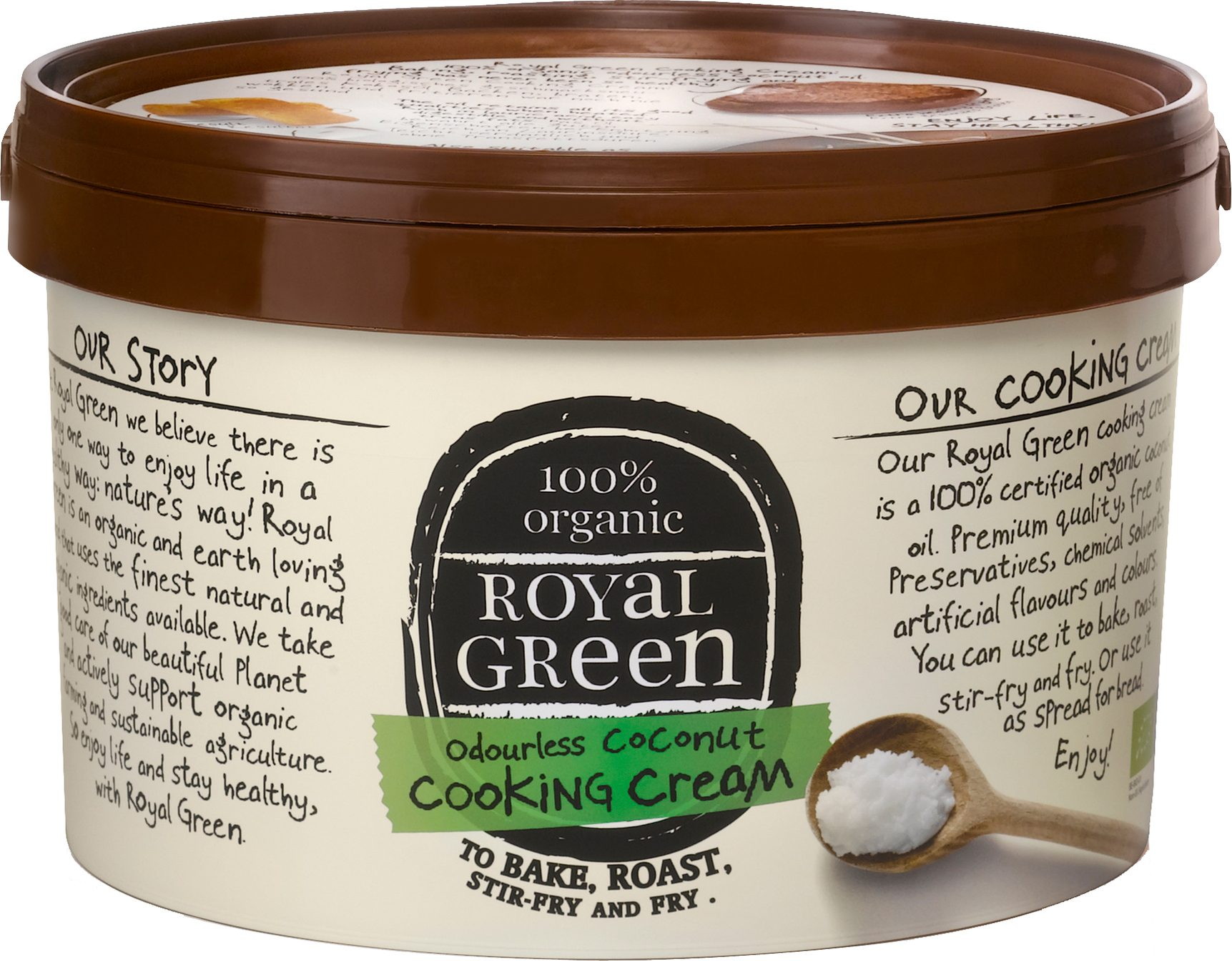 Biologische Royal Green Kokosolie geurloos 2.50 L