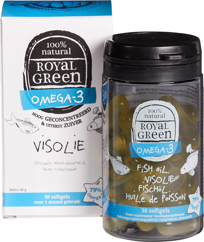 Biologische Royal Green Royal Green Visolie Omega-3 30 st