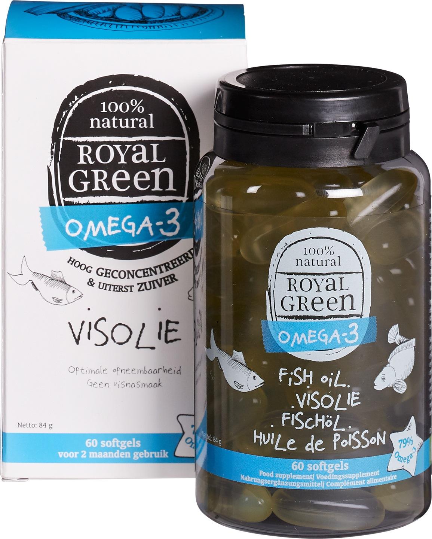Biologische Royal Green Omega-3 visolie 60 st