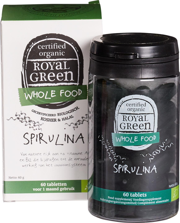 Biologische Royal Green Spirulina 60 st