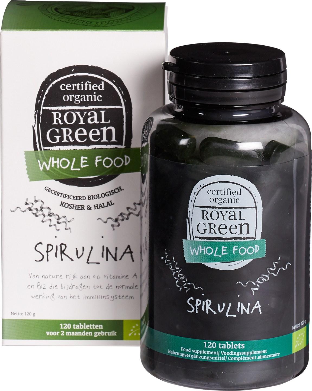 Biologische Royal Green Spirulina 120 st