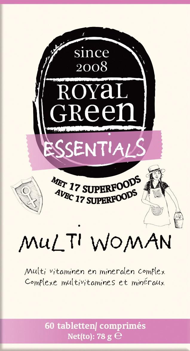 Biologische Royal Green Multivitamine vrouw 60 st