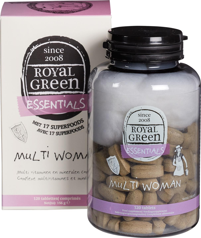 Biologische Royal Green Multivitamine vrouw 120 st