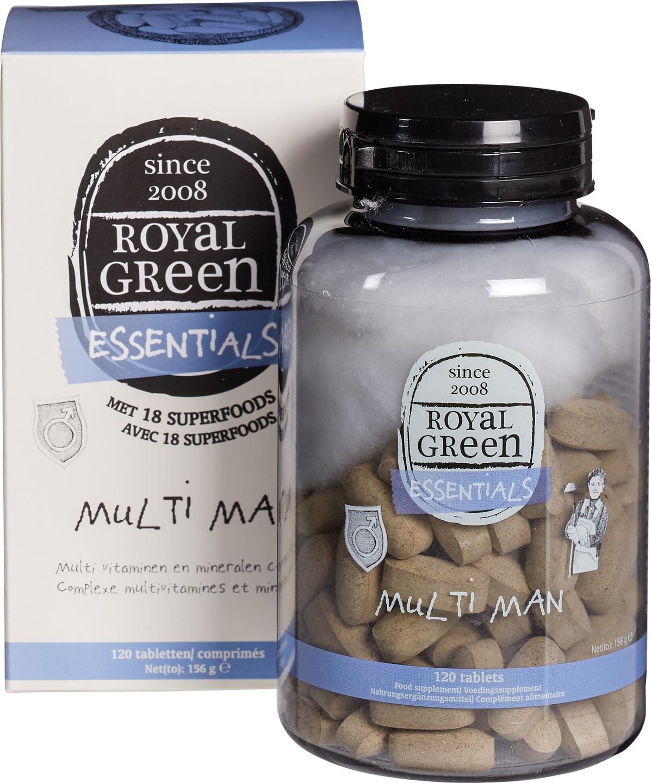 Biologische Royal Green Multivitamine man 120 st