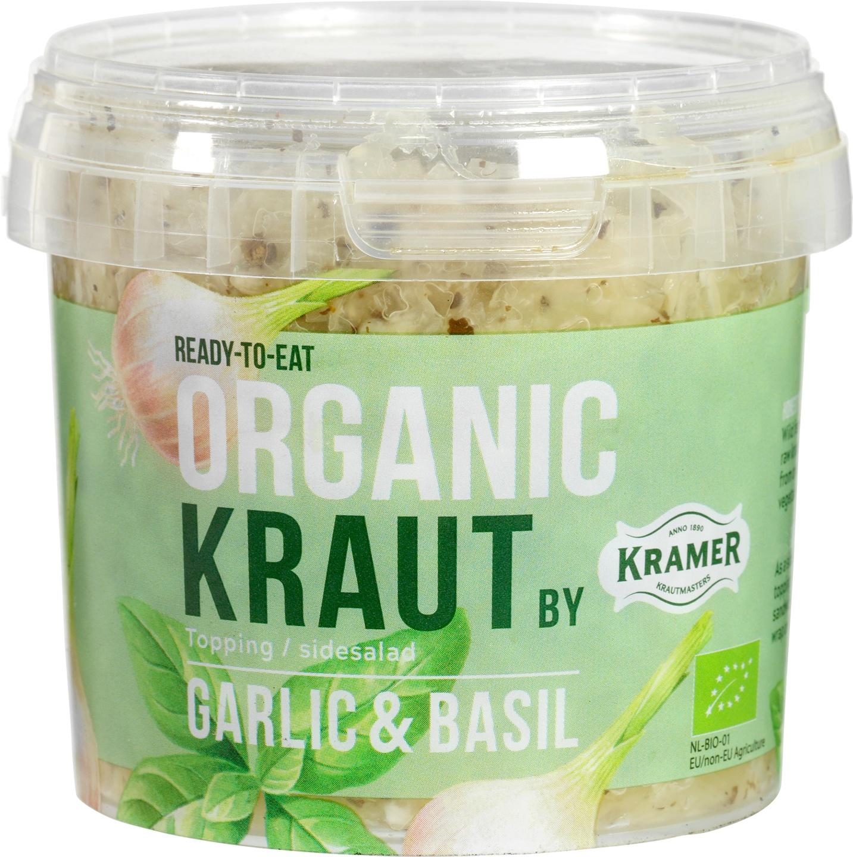 Biologische Kramer Gefermenteerde kool knoflook/basilicum 300 gr
