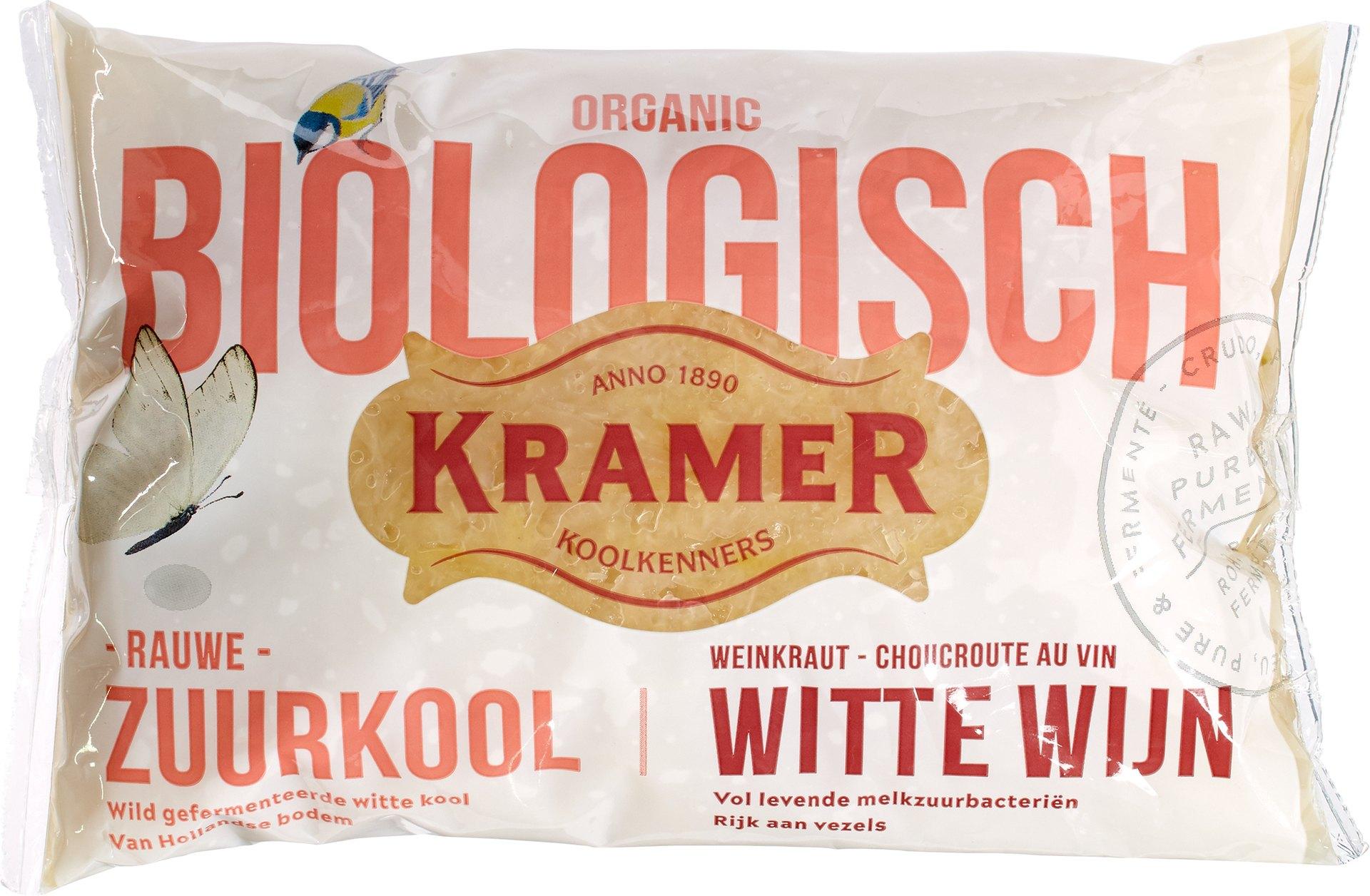 Biologische Kramer Wijnzuurkool verpakt 500 gr