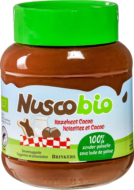 Biologische Brinkers Nuscobio hazelnootpasta 400 gr