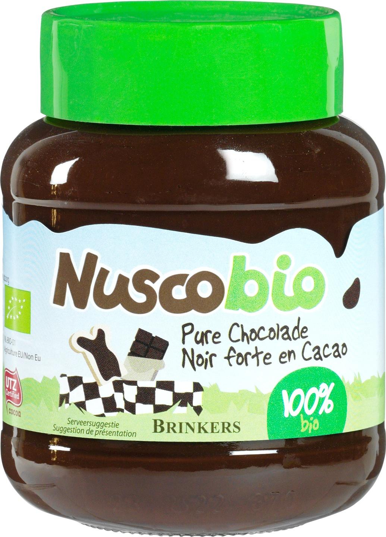 Biologische Brinkers Nuscobio chocoladepasta puur 400 gr