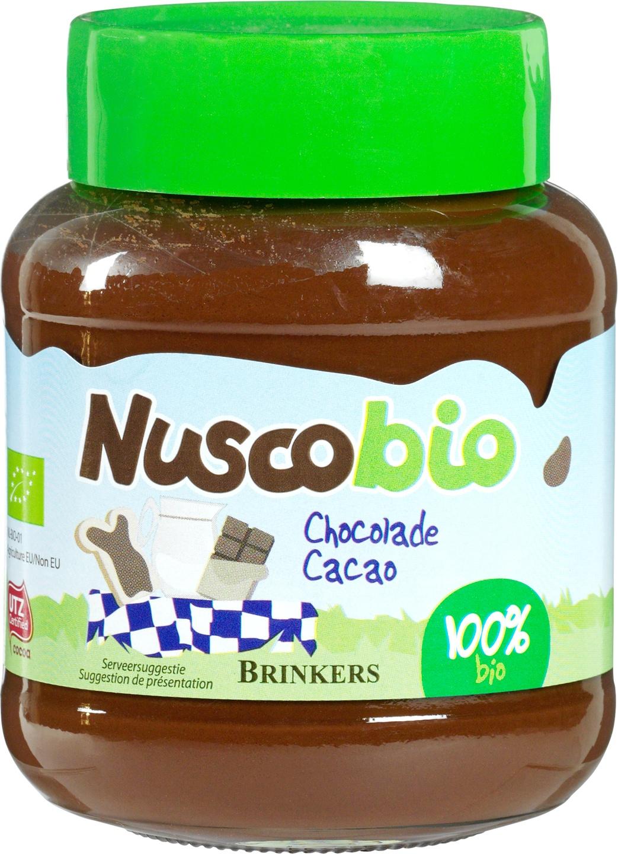 Biologische Brinkers Nuscobio melkchocoladepasta 400 gr