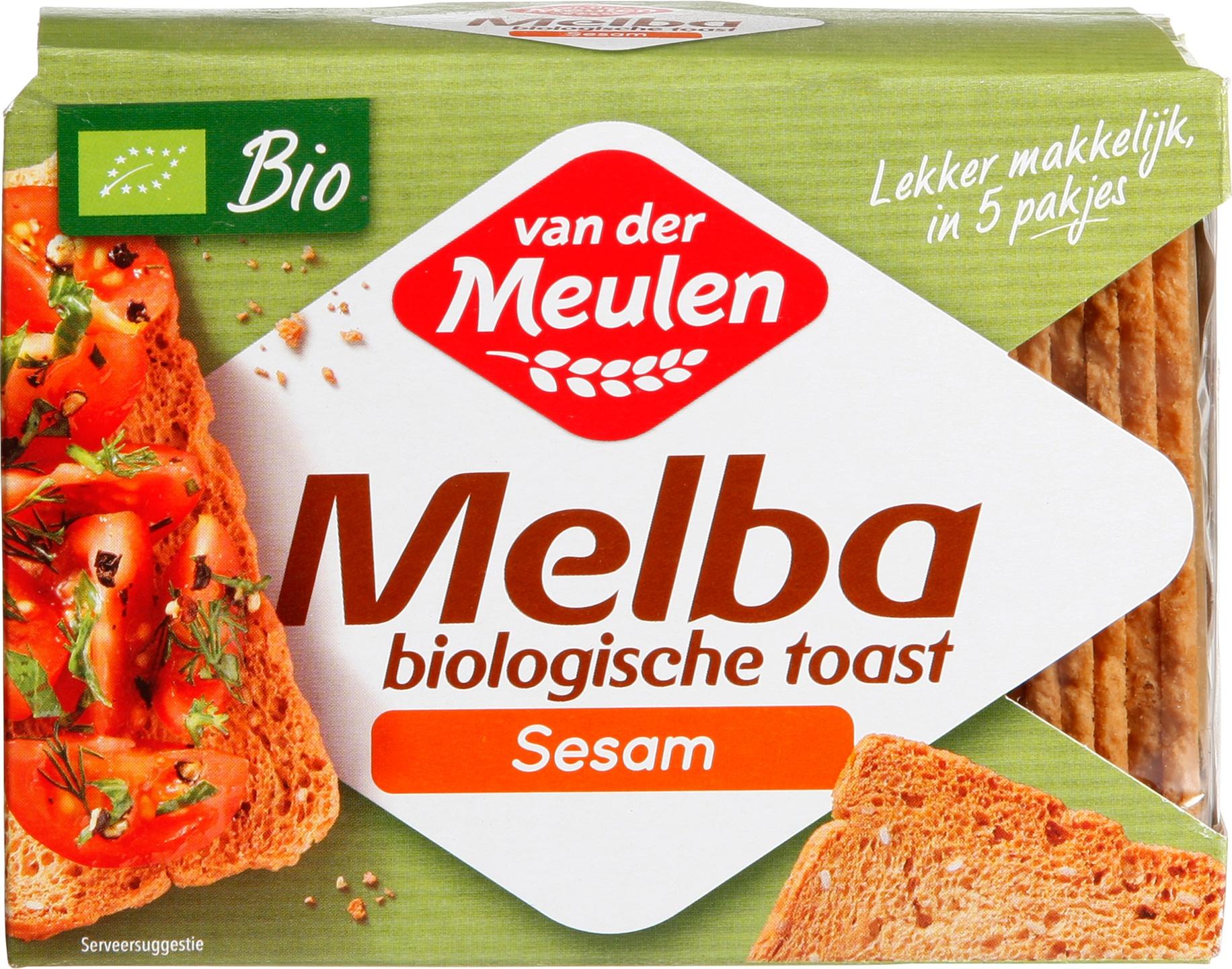 Biologische Van Der Meulen Melba toast 100 gr