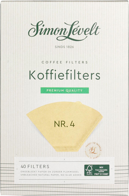 Biologische Simon Lévelt Koffiefilters nr. 4 40 st