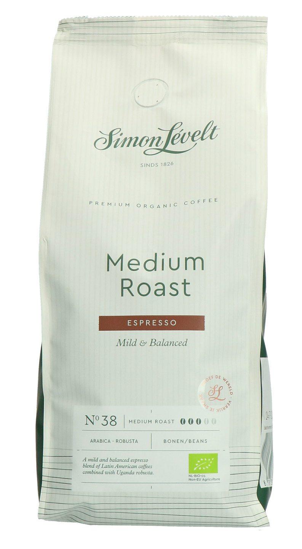 Biologische Simon Lévelt Koffiebonen medium roast espresso 500 gr