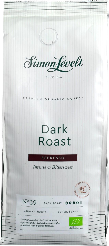 Biologische Simon Lévelt Koffiebonen dark roast espresso 500 gr