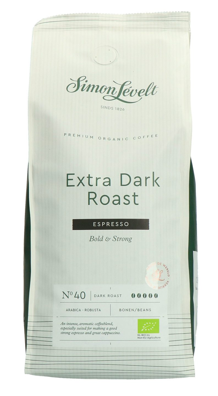 Biologische Simon Lévelt Koffiebonen extra dark roast espresso 500 gr