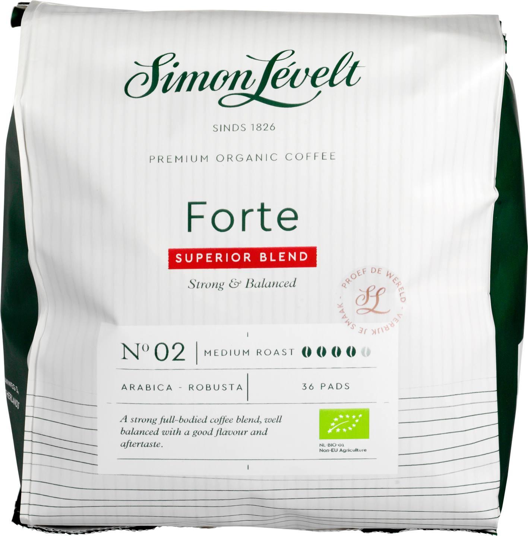 Biologische Simon Lévelt Koffiepads Forte 36 st