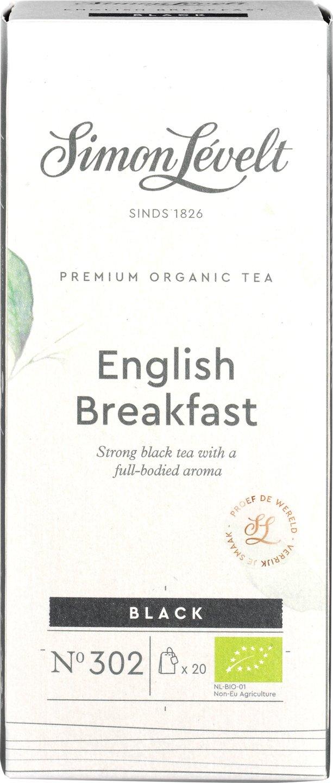 Biologische Simon Lévelt Zwarte thee English breakfast 20 builtjes