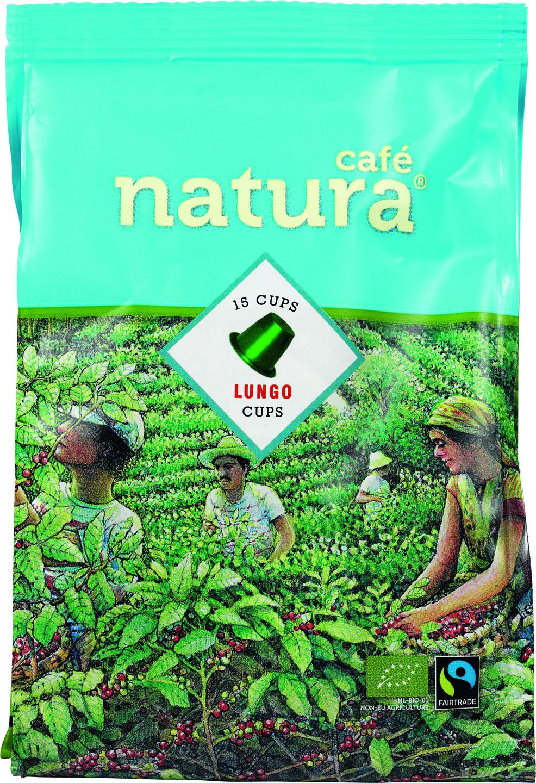 Biologische Cafe natura Koffiecapsules lungo 15 st