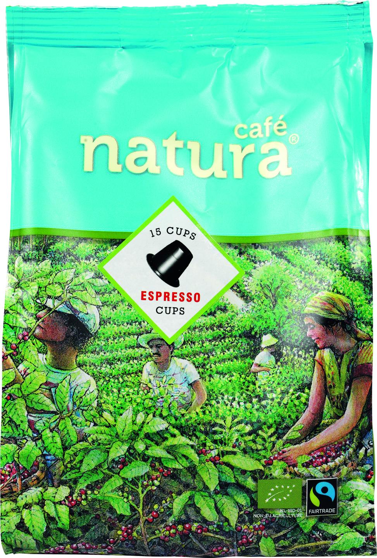 Biologische Cafe natura Koffiecapsules espresso 15 st