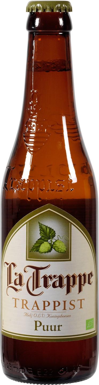 Biologische La Trappe Puur bier 4.5% 330 ml