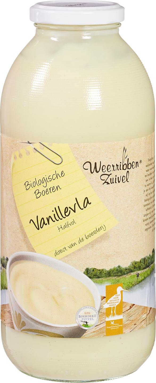 Biologische Weerribben Zuivel Vanillevla 1 L
