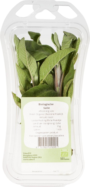 Biologische Ekoplaza Salie in schaaltje 15 gr