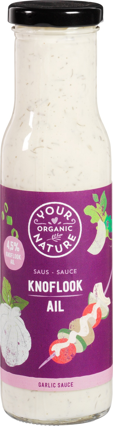 Biologische Your Organic Nature Knoflooksaus 250 ml