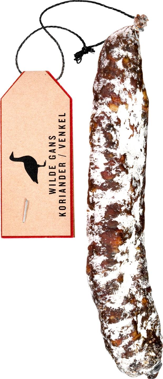 Biologische Wild Van Wild Droge worst wilde gans 100 gr