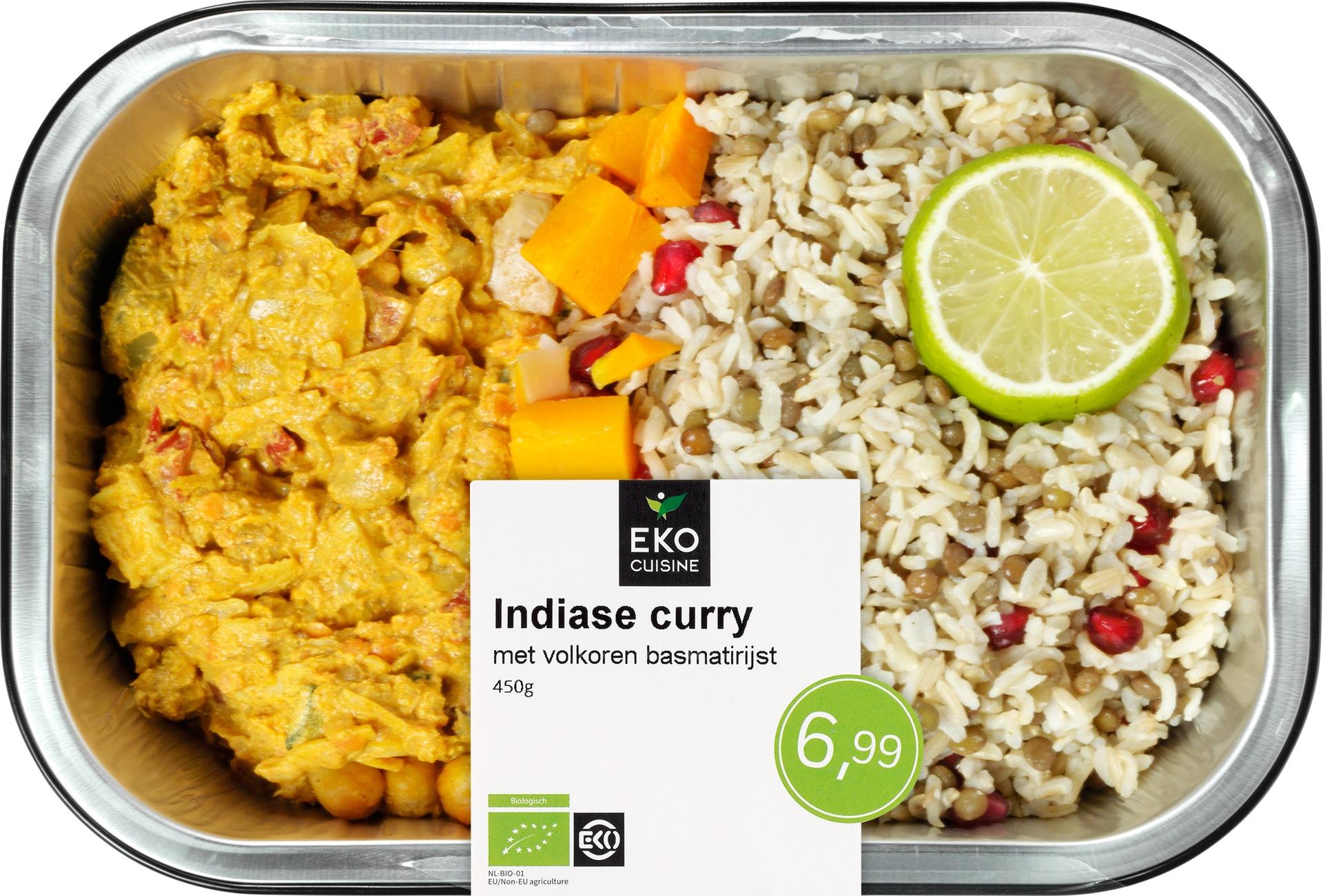 Biologische Ekocuisine Indiase curry met volkoren basmatirijst 450 gr