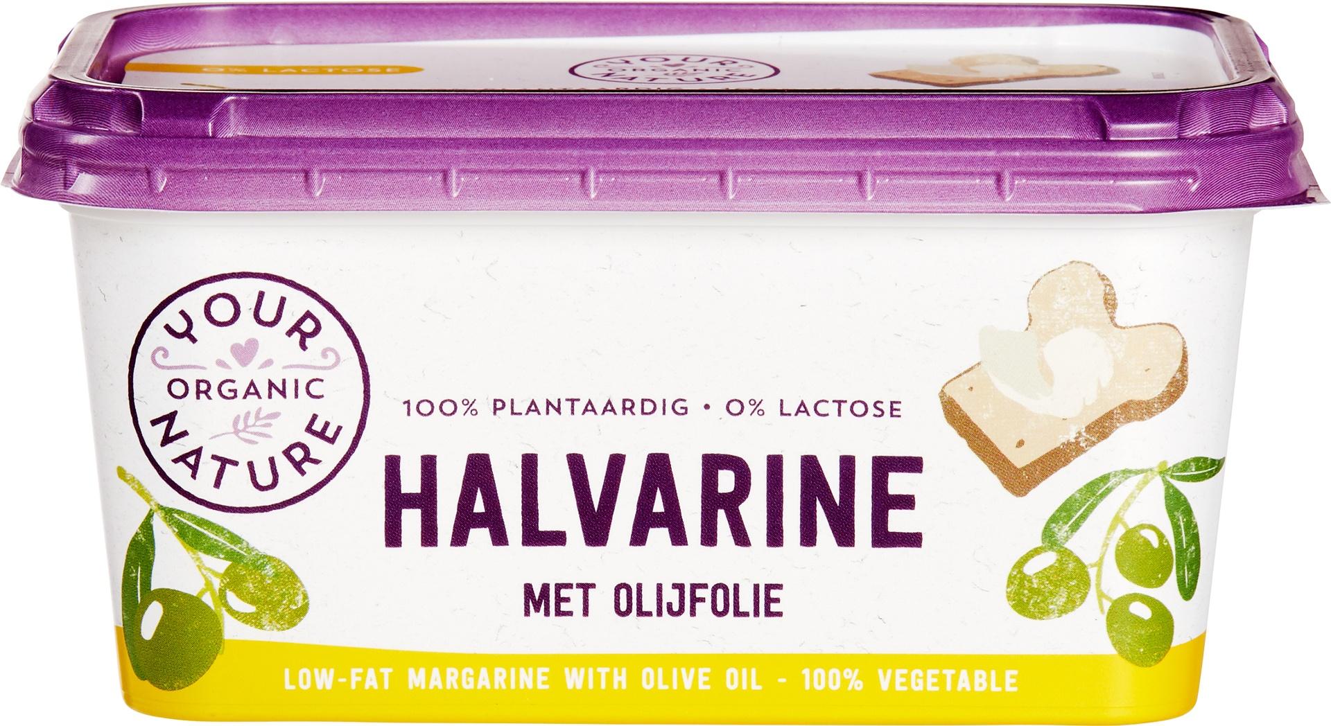 Biologische Your Organic Nature Halvarine met olijfolie 500 gr