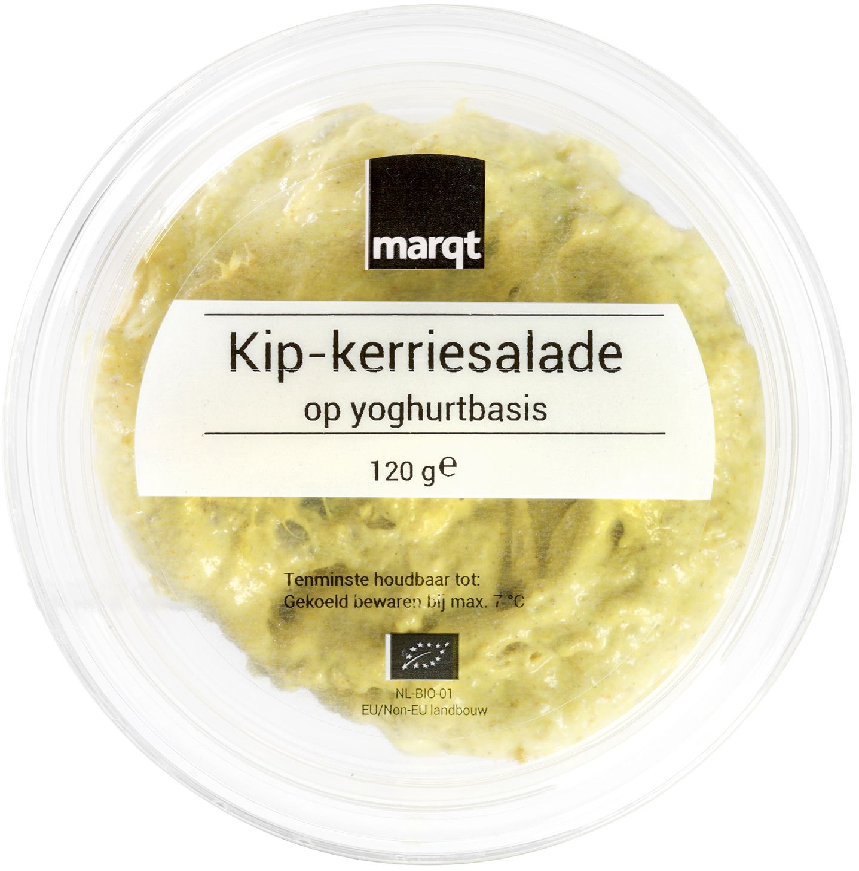 Biologische Marqt Kip-kerrie salade yoghurtbasis 120 gr
