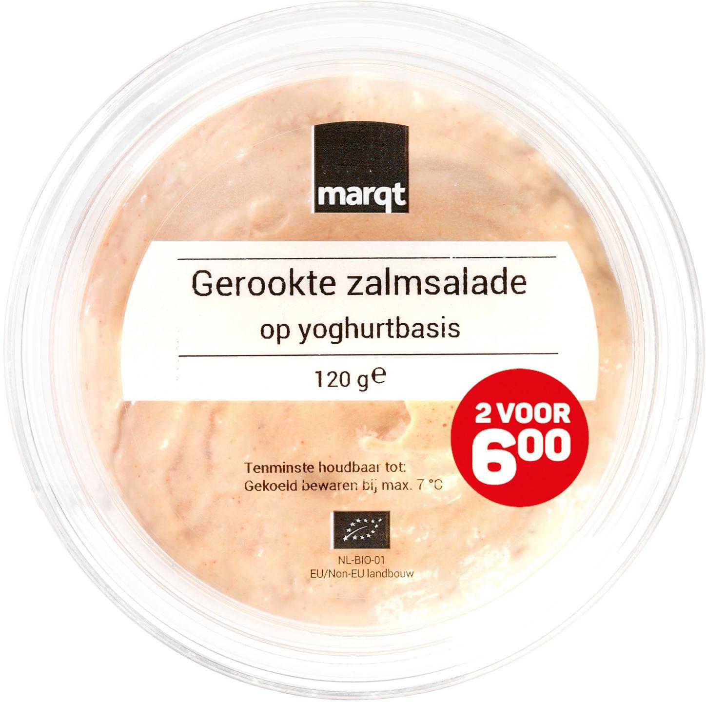 Biologische Marqt Gerookte zalmsalade op yoghurtbasis 120 gr