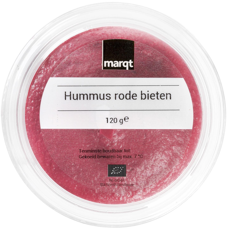 Biologische Marqt Rode bieten hummus 120 gr