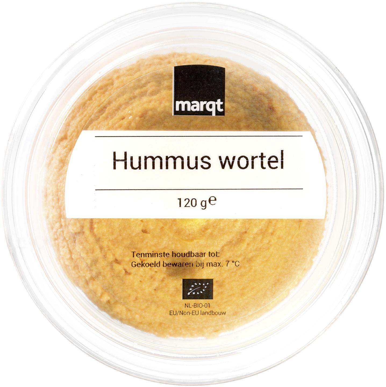 Biologische Marqt Wortel hummus 120 gr