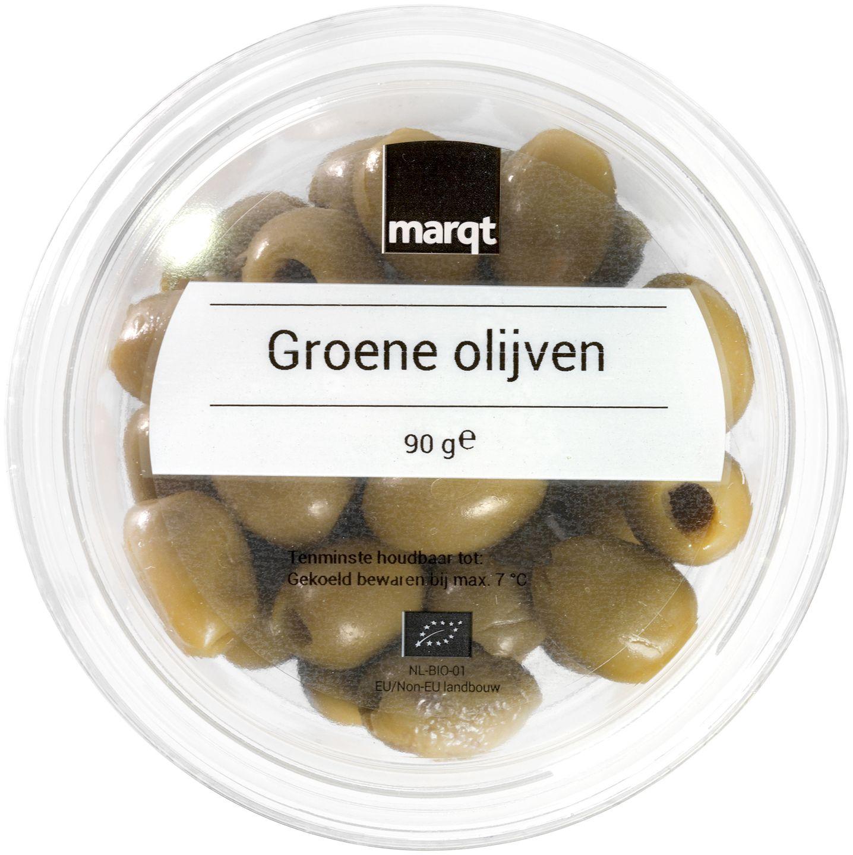 Biologische Marqt Groene olijven 90 gr