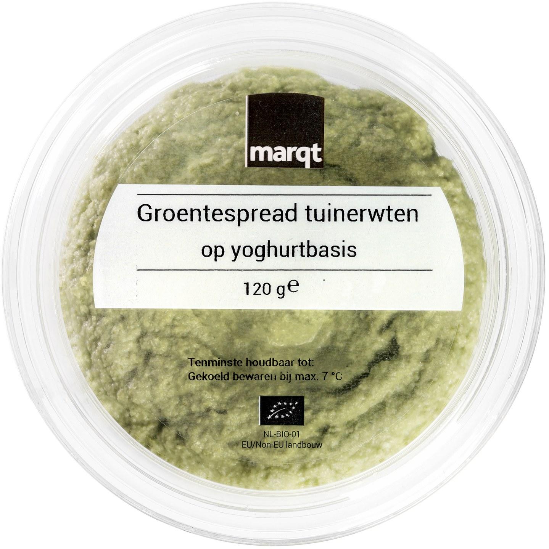 Biologische Marqt Groentespread tuinerwten op yoghurtbasis 120 gr