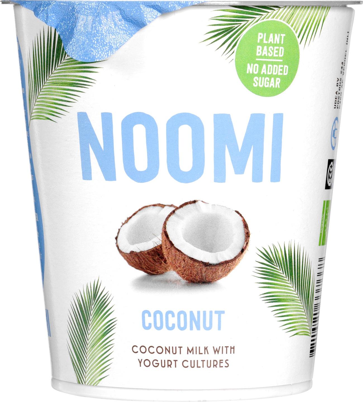 Biologische Noomi Plantaardige variatie op yoghurt kokos 400 gr