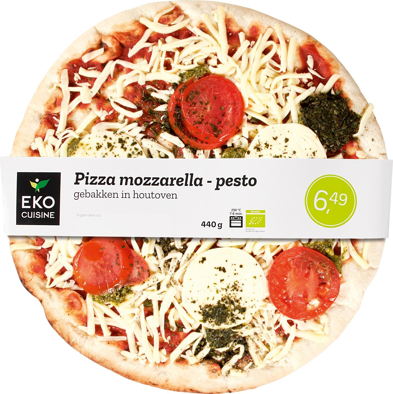 Biologische Ekocuisine Pizza mozarella-pesto 440 gr