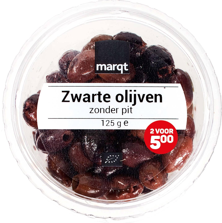 Biologische Marqt Zwarte olijven 125 gr