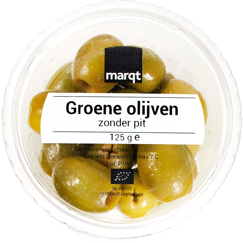 Biologische Marqt Groene olijven 125 gr