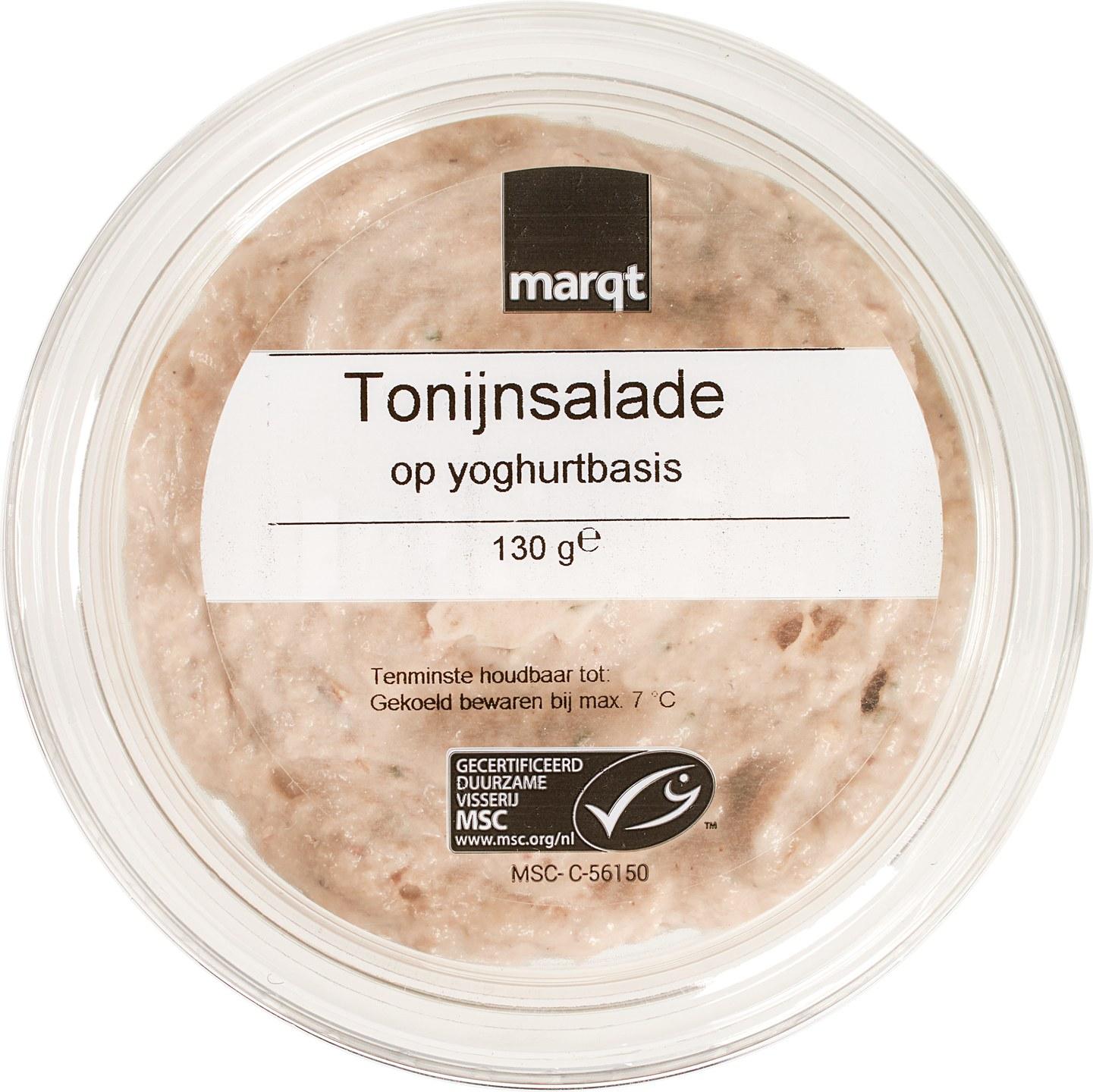 Biologische Marqt Tonijnsalade op yoghurtbasis 130 gr