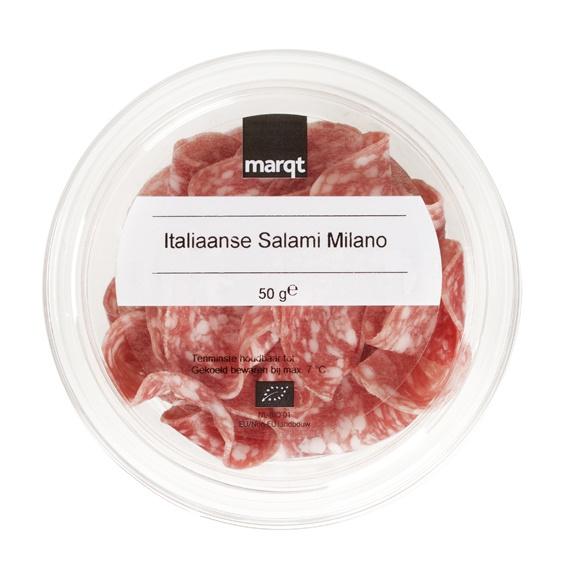 Biologische Marqt Salami Milano 50 gr
