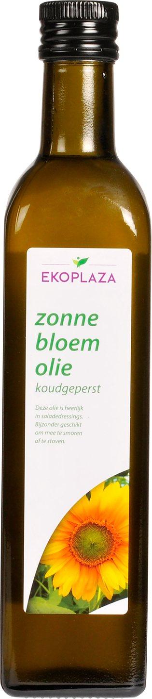 Biologische Ekoplaza Zonnebloemolie koudgeperst 500 ml