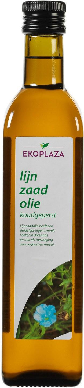Biologische Ekoplaza Lijnzaadolie koudgeperst 500 ml