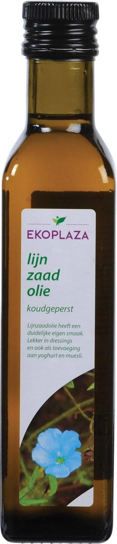 Biologische Ekoplaza Lijnzaadolie koudgeperst 250 ml