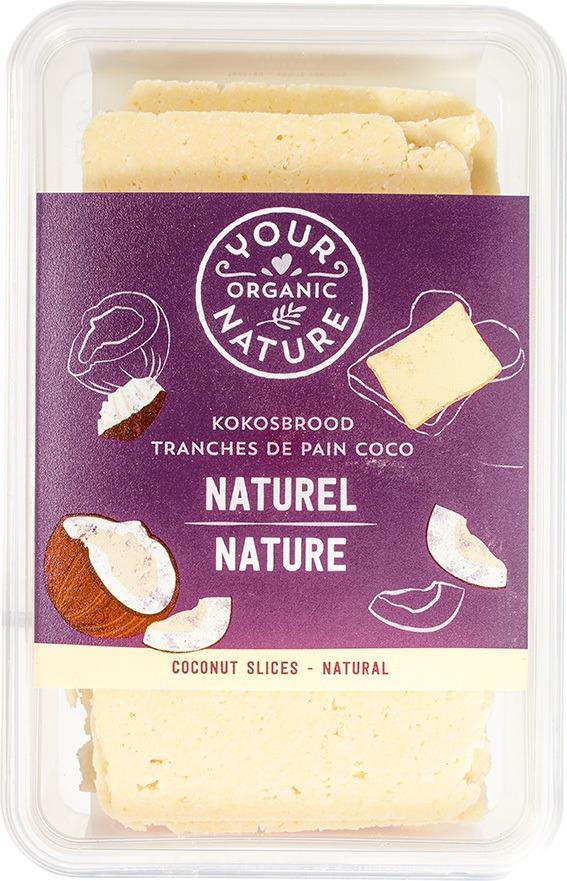Biologische Your Organic Nature Kokosbrood naturel 225 gr