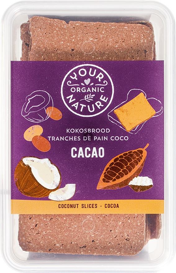 Biologische Your Organic Nature Kokosbrood cacao 225 gr